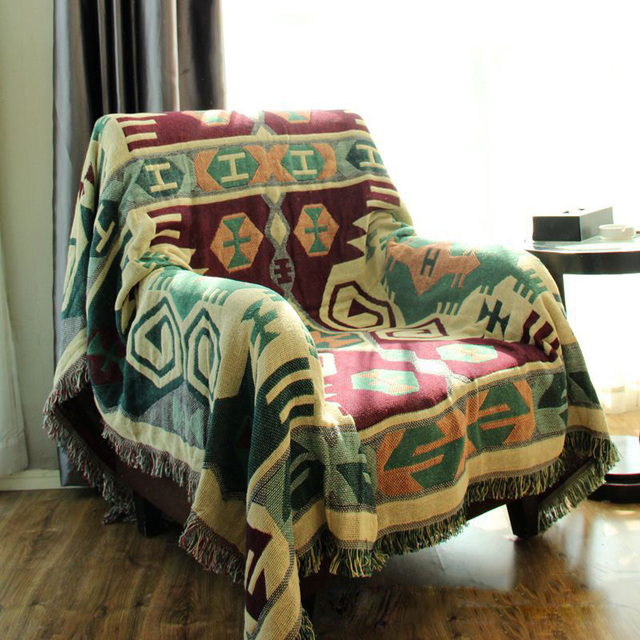 Chausub Vintage Cotton Throw Blanket Winter Home Sofa Piano Cover Bedding Bed Sheets Carpet