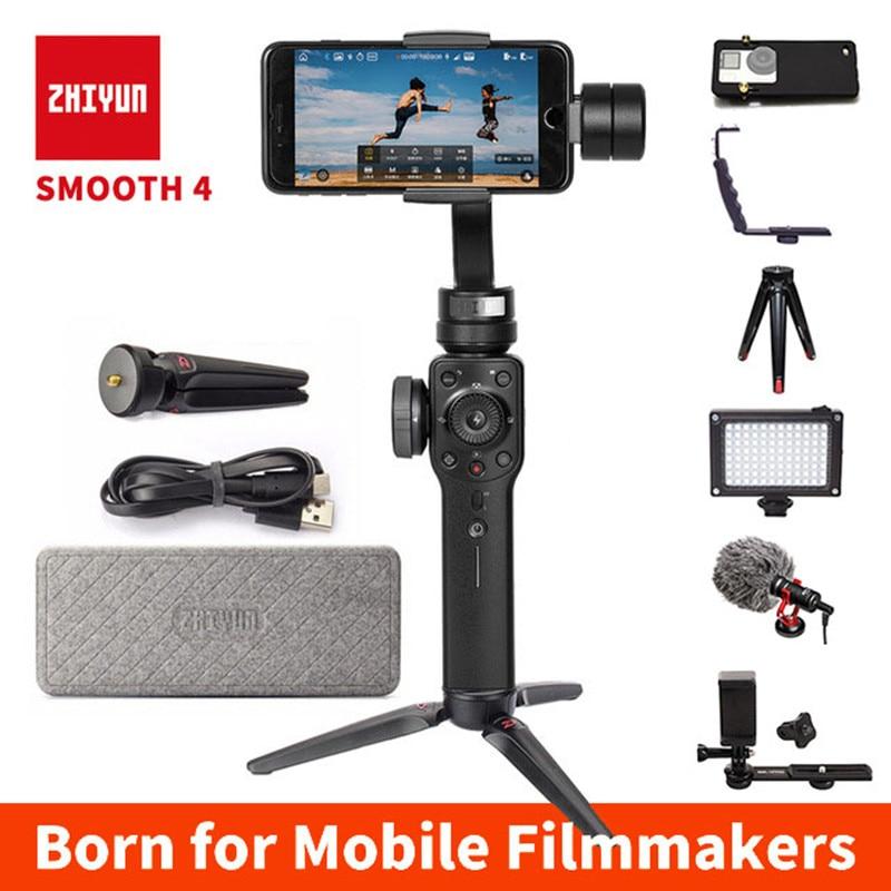Zhiyun tech Zhiyun Smooth 4 3 Axis Gimbal Steadicam Stabilizer for iPhone X 8 Gopro Hero