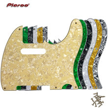 Pleroo Guitar Parts - For US Standard 5 Screw Holes 52 Year Tele Telecaster Pickguard Scratch Plate, Multicolor choice