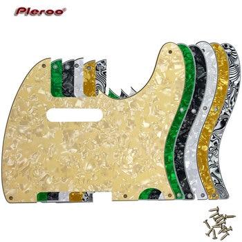 Pleroo Guitar Parts - For US Standard 5 Screw Holes 52 Year Tele Telecaster Guitar Pickguard Scratch Plate, Multicolor choice pleroo custom guitar pickgaurd for dot guitar pickguard scratch plate 4 ply white pearl