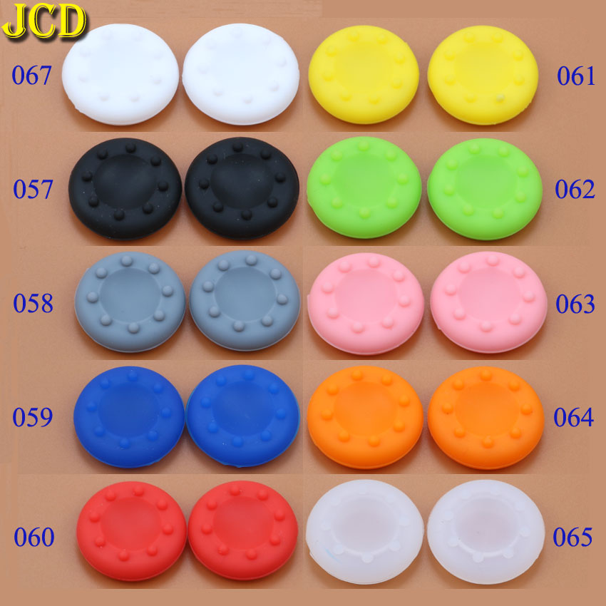 JCD 2pcs Analog Silicone Controller Thumb Stick Cover 3D Analog Joystick Grip Cap For Sony Playstation4 3 PS3 PS4 Xbox 360 / One