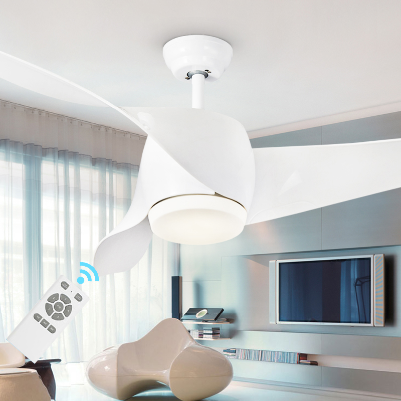 Led modern white 95 265v 30w power dc ceiling fans with lights remote control bedroom home fan for Bedroom ceiling fans with lights and remote