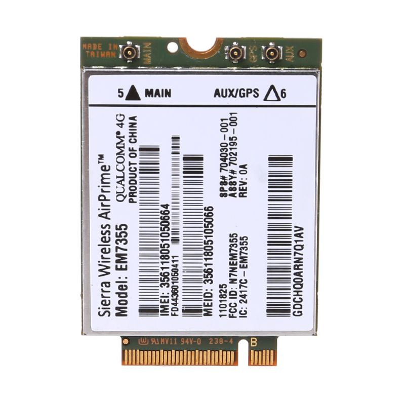 1Pc WWAN Card Wireless WIFI Sierra For HP LT4111 EM7355 Gobi5000 4G LTE Modual NGFF M.2 HSPA WCDMA High Speed