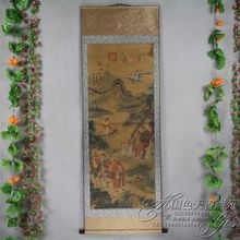 China Antique collection Boutique Calligraphy and painting the Eight Immortals Crossing the Sea diagram