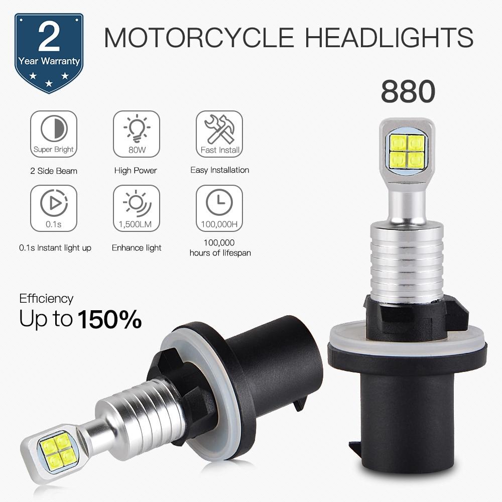 NICECNC ATV 80W LED Headlight Bulbs For ARCTIC CAT 250 300 375 400 450 500 550 650 4X4 SNO PRO 500 600