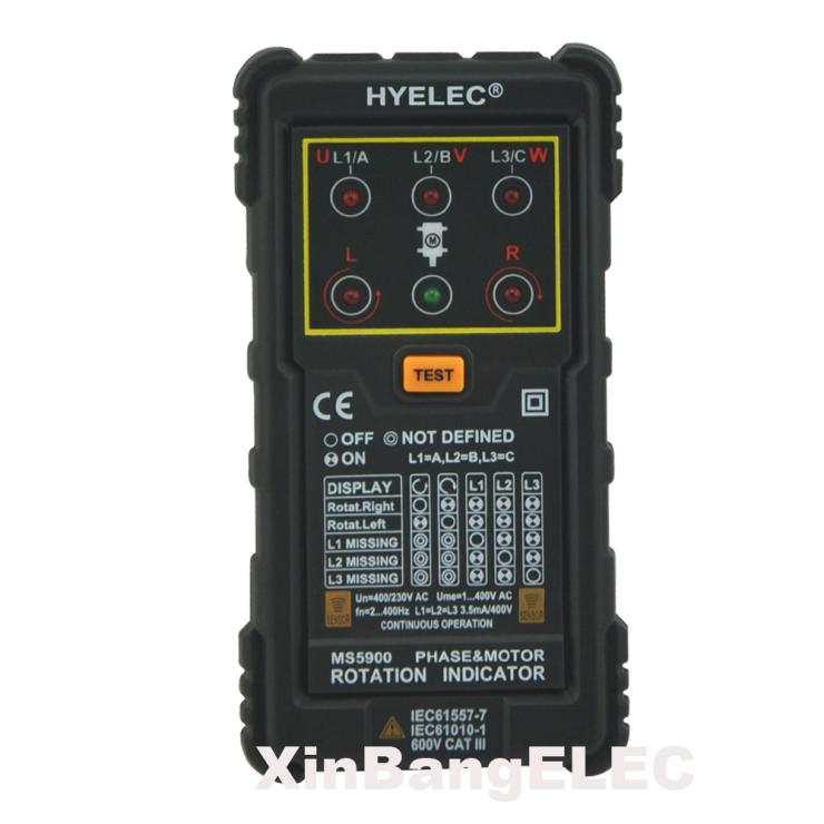 Professional Three Phase Rotation Indicator Motor Phase Rotation Indicators Tester Meters  цены