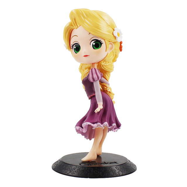 13 5cm Q Posket Tangled Rapunzel PVC Figure Model Toy Princess Doll Gift for Girls
