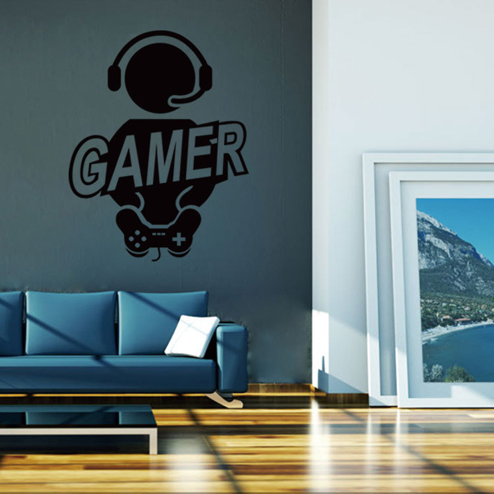 2017 wall sticker decal children room gaming gamer joystick video before buy 1 the picture we show is 100 real object photography 2 as different computers display colors differently the color of the actual item may very