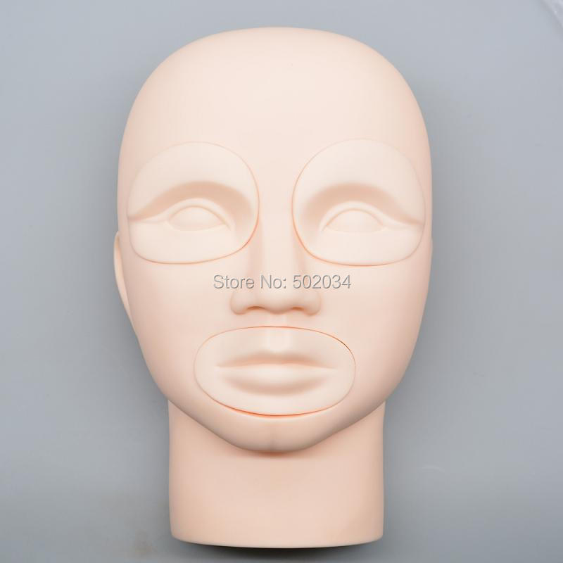 DHL&EMS Freeshipping 5sets/Lot Semi Permanent Makeup Tattoo Eye Lip 3D Practice Skin Mannequin Head Training supplies dhl ems 4 sets 1pc new elco ni4 km08 op6l q8