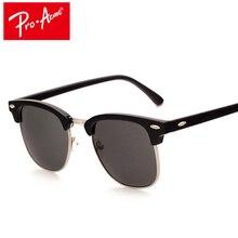 Pro Acme Classic Fashion Sunglasses Men Brand Designer Half Metal Mirror Sun Glasses Male Gafas Oculos De Sol UV400 CC0528