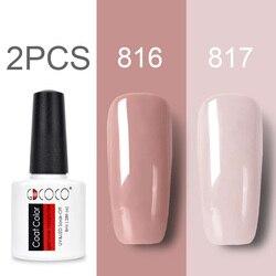 GDCOCO Gel Unha Polonês Canni Kits Nova Chegada Fornecimento de Lacas de Gel Nail Polish Soak Off UV LED Roxo Rosa Gel polonês