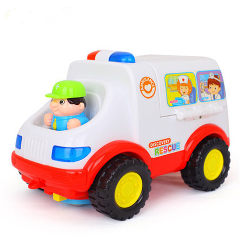 2-4 Years Old Baby Electric Music Lights Universal Car-styling Ambulance Toy Car Light Music Family Electric Car