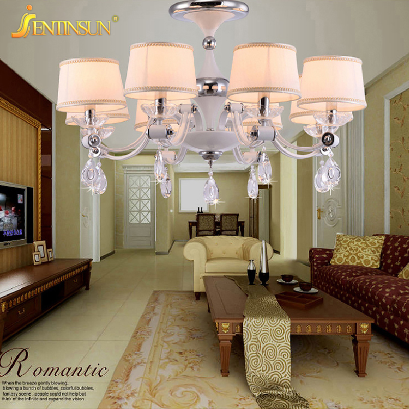 American Indoor Lighting Luxury LED Cloth Clear Crystal Pendant Light Fashion Nordic Hanging Lamp for Restaurant Living Room creative restaurant pendant lamp individual crystal hanging light 110v 220v 80w fashion supend lighting