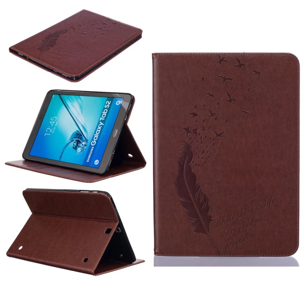 Luxury Tablet Covers Cases For Samsung Galaxy Tab S2 9.7 Inch SM-T810 SM-T815 PU Leather Flip Wallet Stand Cover For T810 T815