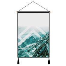 Nodic Marble Geometric Print Hanging Painting Watercolor Modern Simple Wall Art Picture Poster for Living Room Bedroom Home Deco