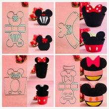 Mickey Minnie bow box basket Metal Cut Dies Christmas Stencils For DIY Scrapbook Paper Card Decorative Craft Embossing Die Cuts