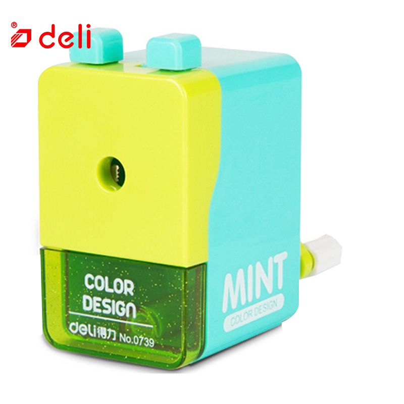 Deli Pencil Sharpener Kids Student Manual Pencil Sharpener Stationery Creative Sharpener School Office Supplies With Gift