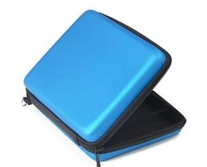 Image 2 - Blue Silicone case+Protect Clear Touch Film Screen Guard+Blue EVA Protector Hard Travel Carry Case Pouch bag for nintendo 2DS