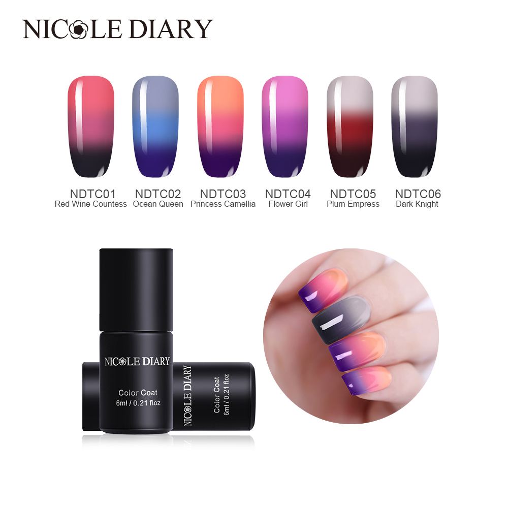 Nicole Diary Thermal Nail Art Uv Gel Polish Color Changing Temperature Glitter Soak Off Decoration In From Beauty Health