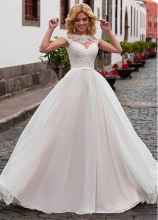 Smileven Wedding Dress Plus Size 2019 Lace up Back Cap Sleeves Bride Turkey Boho Ball Gown