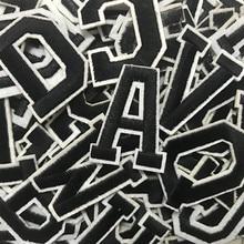 Вышивка буквами с английским алфавитом, нашивки, сделай сам, термоплавкий клей, Пришивные фирменные аксессуары для одежды, наклейки, аппликация с именем, нашивки