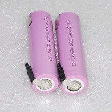2 4 6 10 шт. ICR 3.7 В 18650 2800 мАч литий-ионный ячейке с сварки вкладки контакты для фонарика и PowerBank