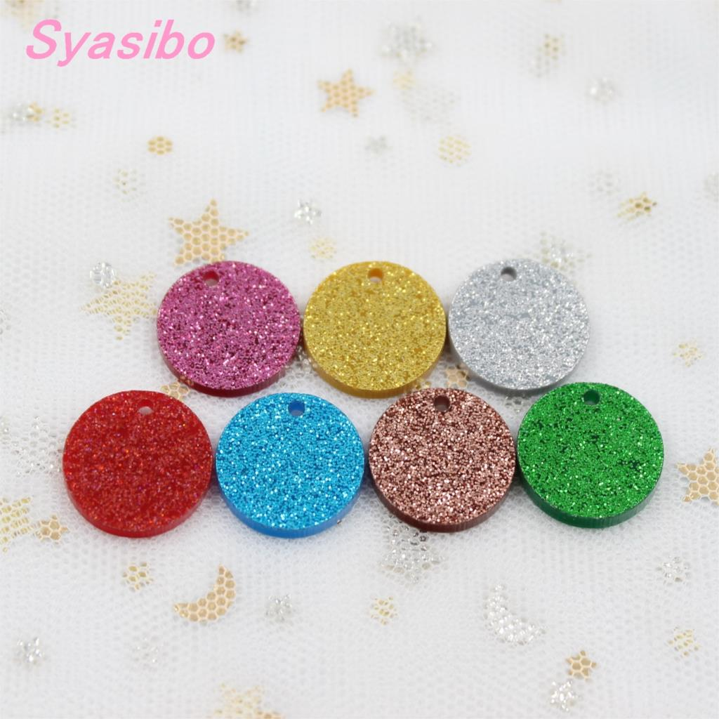 10mm/12mm//16mm Assorted Discs With Hole Acrylic Earrings Circle Glitter Earrings Laser Cut -AC1028B /H