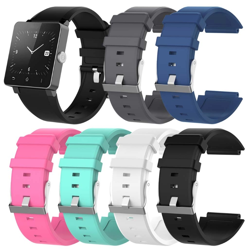 Replacement Silicone Wrist Strap Bracelet Watch Band For Sony Smartwatch 2 SW2 24mm silicone rubber watch band for sony smartwatch 2 sw2 replacement watchband strap bracelet with stainless steel clasp buckle