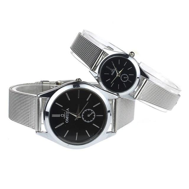 9c1fb95c9a4 Relogio Masculino   Relogio Feminino 2018 Couple Lover Men Women Stainless  Steel Quartz Mesh Belt Wristwatches Wrist Watches