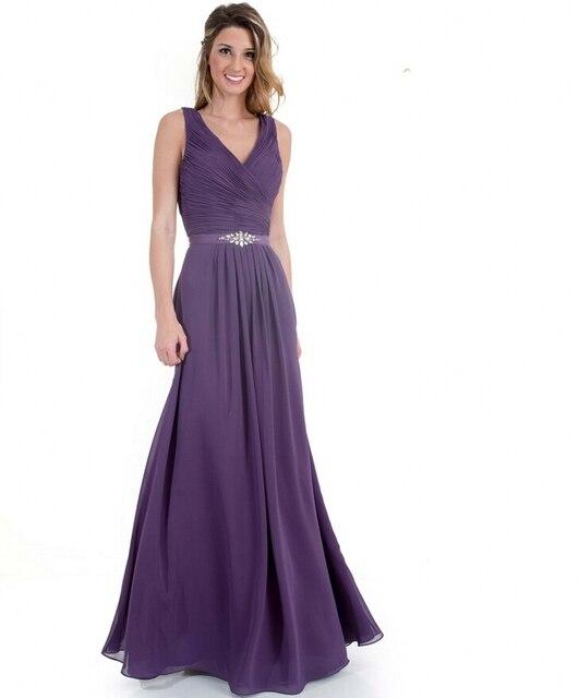 Elegante Günstige Plus Size Brautmädchen Kleider für Junior Long ...