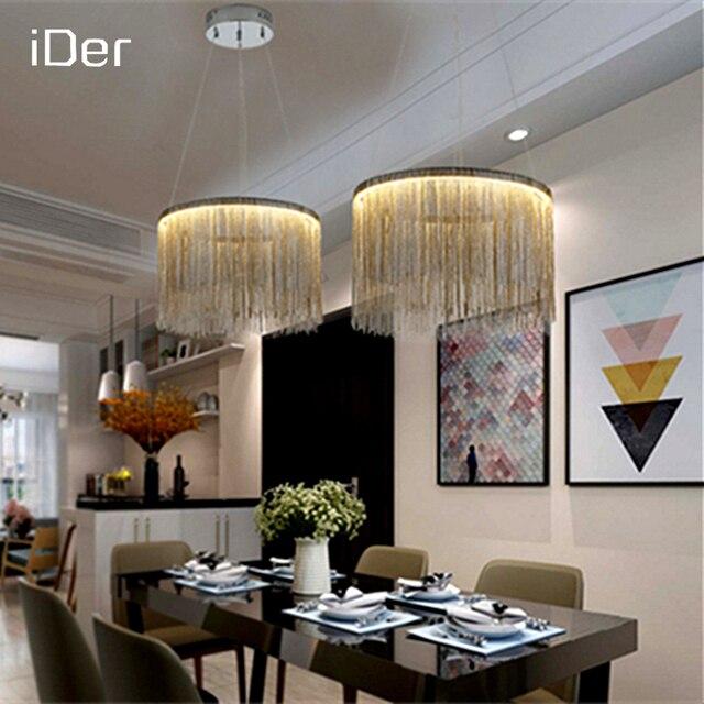 Modern Simple Atmosphere Chain Chandelier Nordic Bedroom Living Room  Restaurant Lights High   End Villa Art