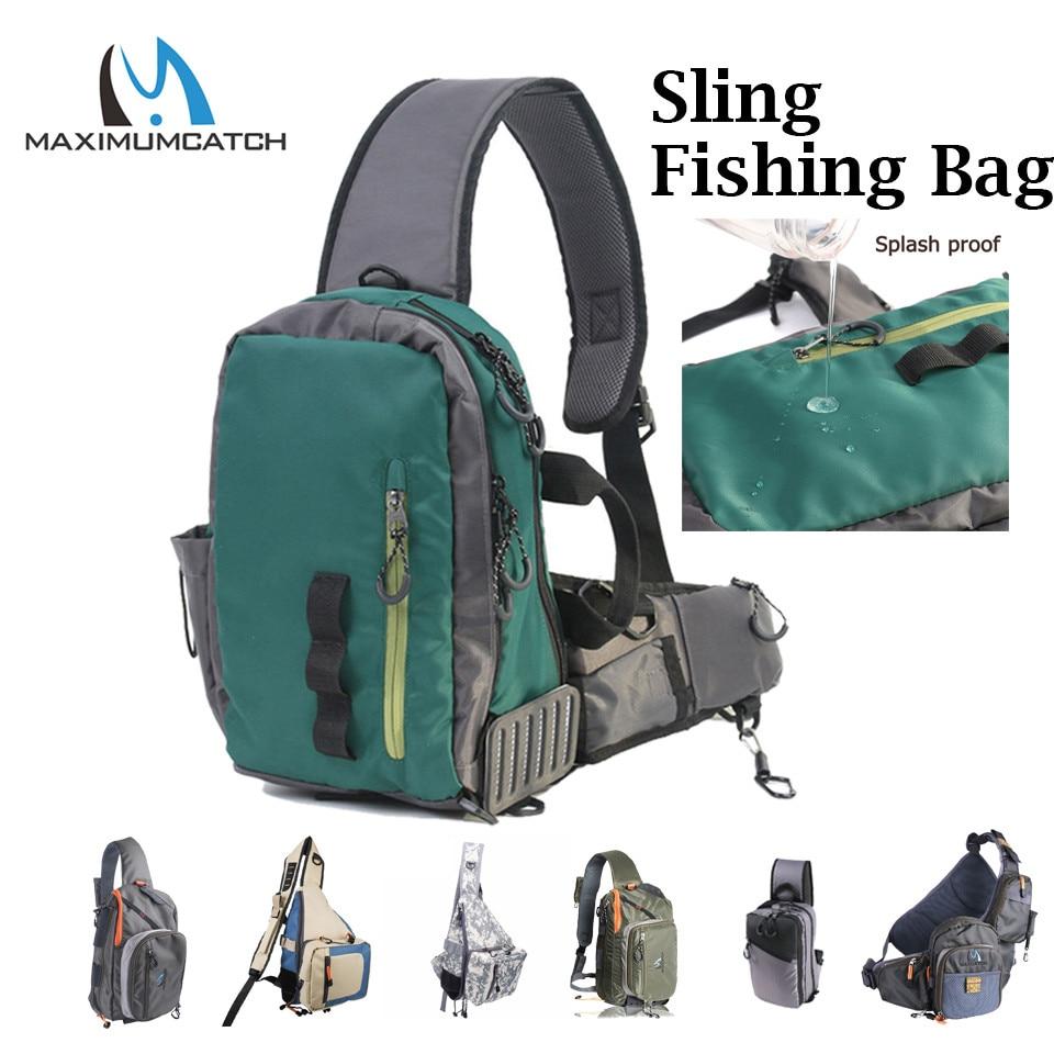 Maximumcatch Splash Waterproof Fly Fishing Sling Bag Multi-Purpose Shoulder Fishing Backpack