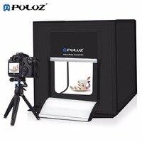 PULUZ 60*60 см складной светодиодный свет LightBox номер студии фото Box для фотографии аксессуары съемки палатка комплект с фон