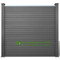 Outdoor Fencing, WPC Privacy Fence Boards Manufactuer, Maintenance Free Garden Fencing For Sale