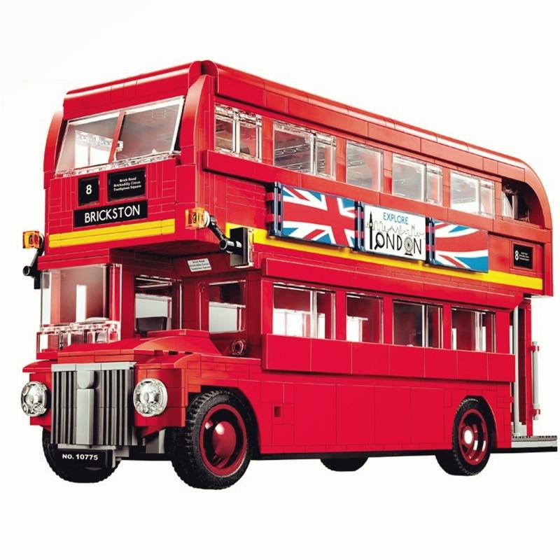 Creator Stadt Serie Die London Bus Station Auto Bausteine Sets Ziegel Modell Kinder Kits Spielzeug Kinder Klassische Kompatibel-in Sperren aus Spielzeug und Hobbys bei  Gruppe 1