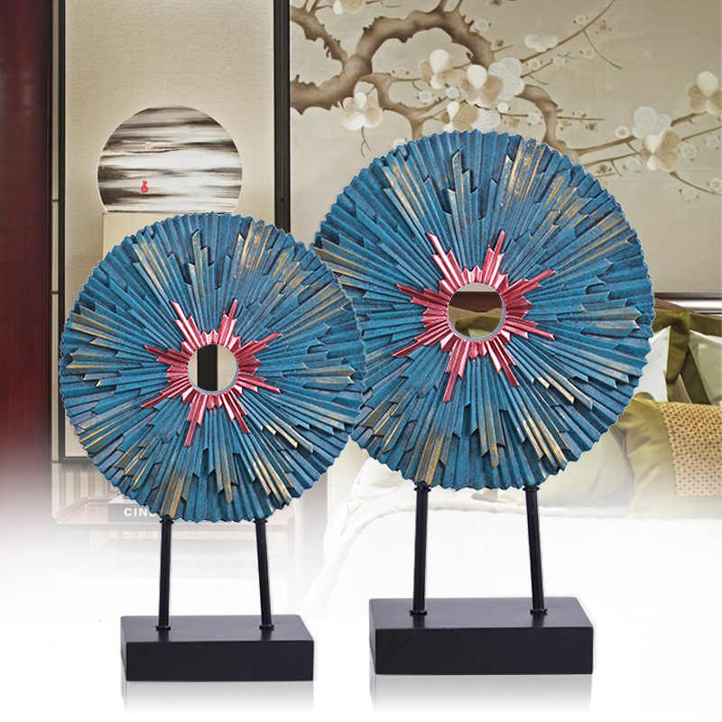 2 PCS Creative Home Furnishing Modern Chinese Portraits Living Room Tv Cabinets, Model Rooms, Decorative Craft Gifts Decoration