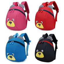 Plush Backpacks Anti-lost Kids Baby Bag Cute Animal Dog Children Backpacks Kindergarten Bag Aged 1-3(China)