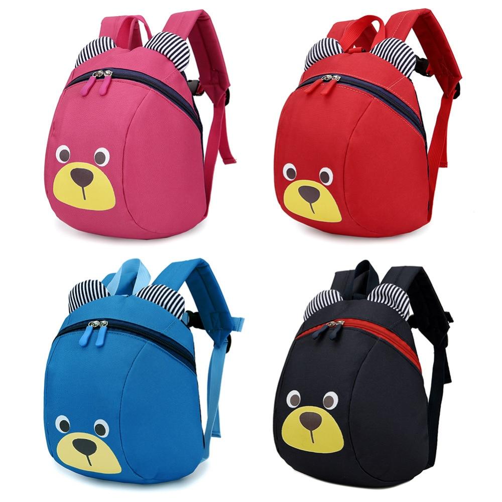 Mochilas de peluche anti-perdida para niños bolsa de bebé Animal lindo perro niños mochilas bolsa de jardín de infantes 1-3
