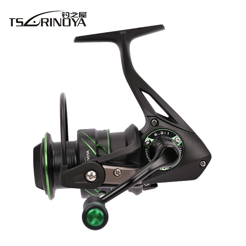 Tsurinoya Spinning Fishing Reel Gear Ratio 6.2:1 12BB 265g/275g Ball Bearing Max Drag 8kg Pesca Feeder Freshwater Spinning Reel tsurinoya tsp3000 spinning fishing reel 11 1bb 5 2 1 full metal max drag 8kg jig ocean boat lure reels carretes pesca molinete