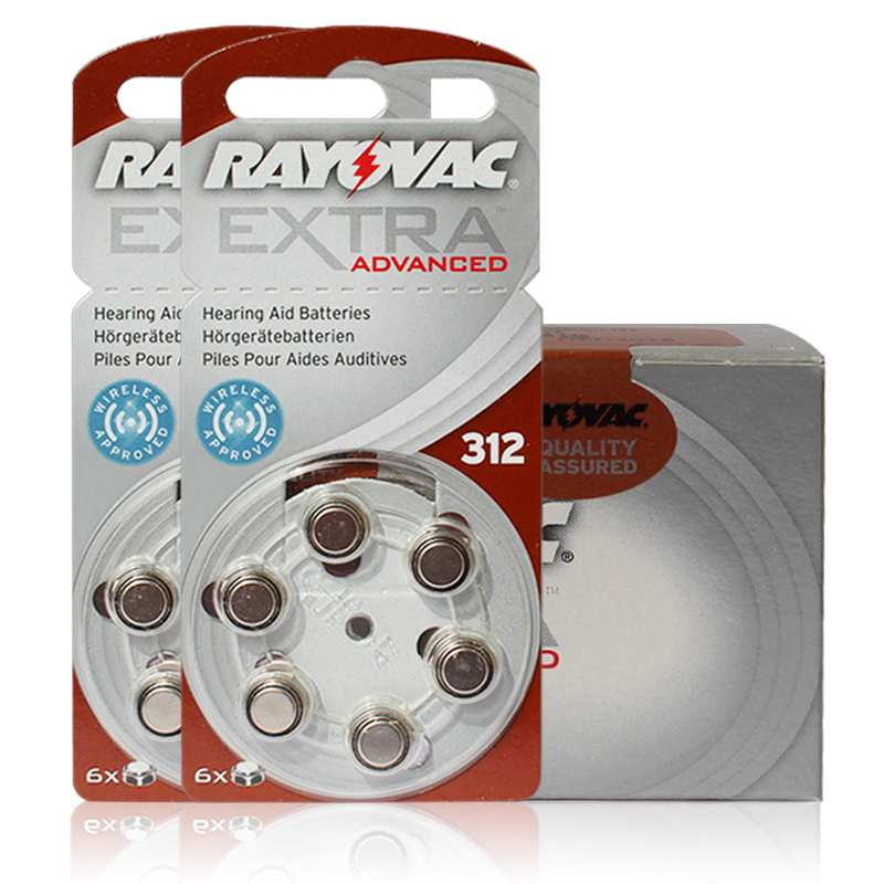New 60 cells 10card Rayovac Extra 1 4V Performance Hearing Aid Batteries Zinc Air 312 A312 PR41 Battery for CIC Hearing aids in Ear Care from Beauty Health