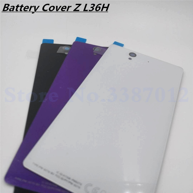 New <font><b>Glass</b></font> <font><b>Back</b></font> Battery <font><b>Cover</b></font> For <font><b>Sony</b></font> <font><b>Xperia</b></font> <font><b>Z</b></font> L36H L36 <font><b>C6603</b></font> C6602 Replacement Rear Door Housing With NFC image