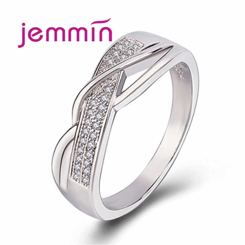 Big Promotion Fashion 925 Sterling Silver Jewelry Cubic Zircon Crystal Engagement Wedding Rings For Women Anillo Bijoux