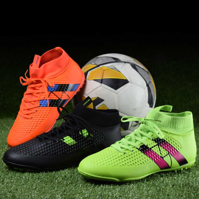 ... Крытый футзалу Футбол сапоги кроссовки мужские Дешевые отличные  футбольные бутсы original носок футбольные бутсы с ботильоны 31624b261d1