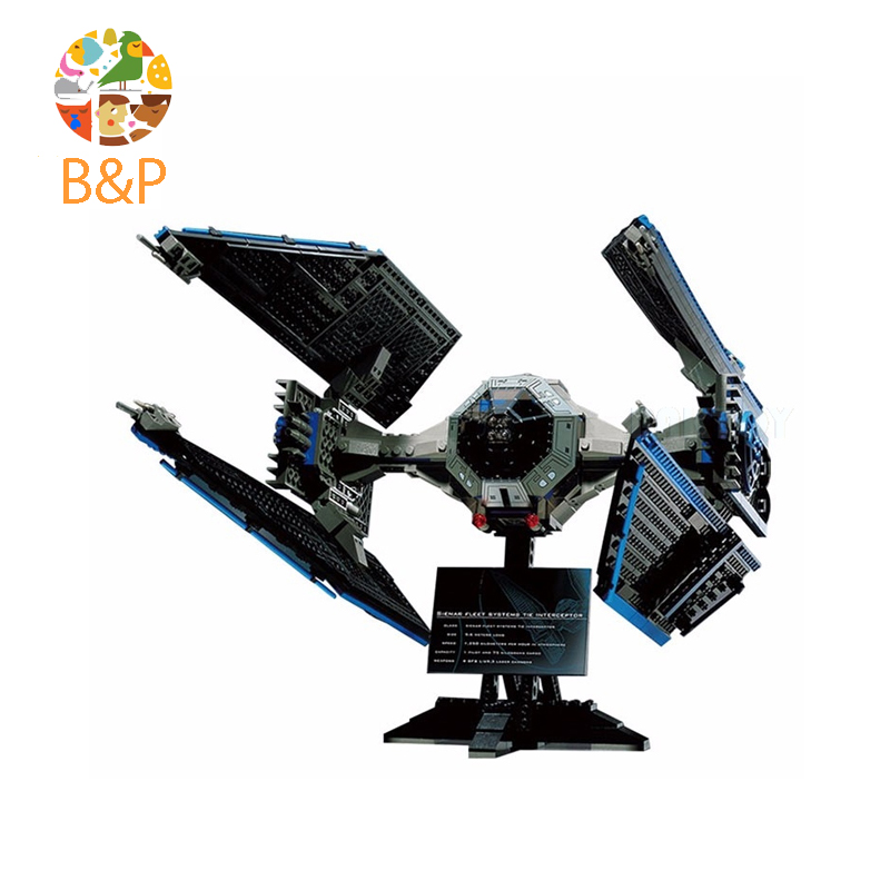 LEPIN 05044 703Pcs Star Wars Limited Edition TIE Interceptor Building Block Toys Gift For Children Compatible Legoing 7181 конструктор lepin star plan истребитель tie interceptor 703 дет 05044