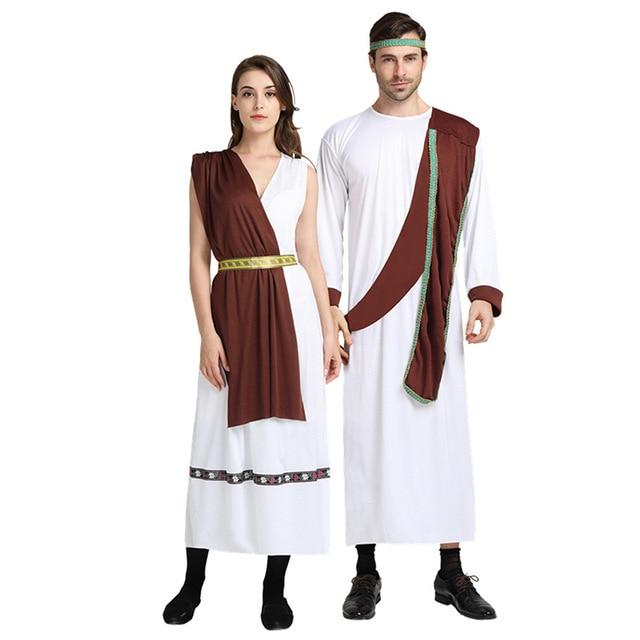 b91877b46 Women Men Ancient Greek Cosplay Costume Adults Lovers Greece Costumes  Masquerade Party Dress Decor Purim Halloween Christmas