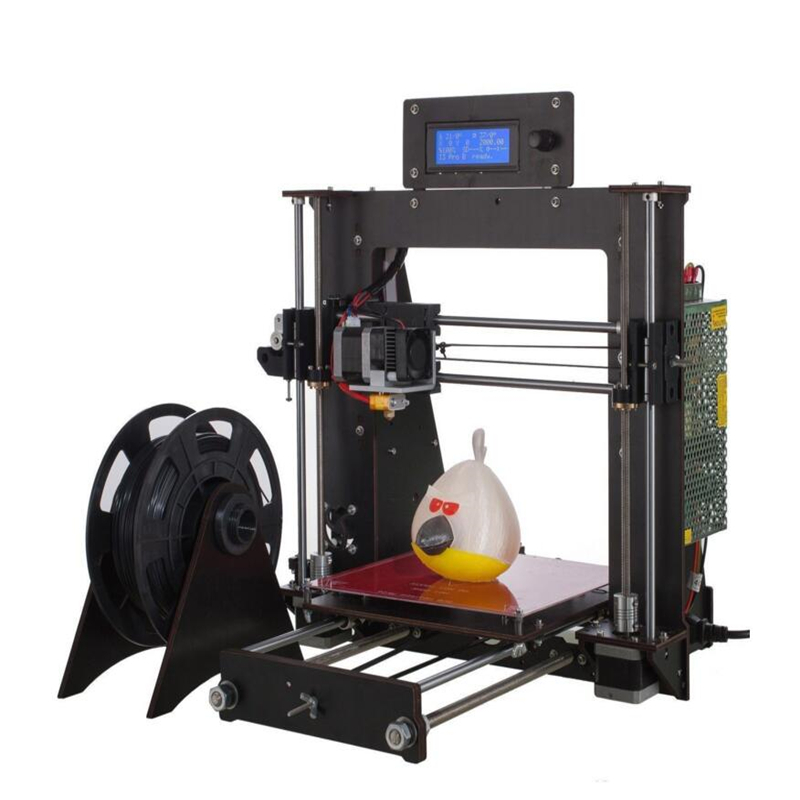 zrprinting 2018 3D Printer Prusa i3 Reprap + MK8 Extruder, MK3 Heatbed, LCD Controller ABS PLA 1.75MM