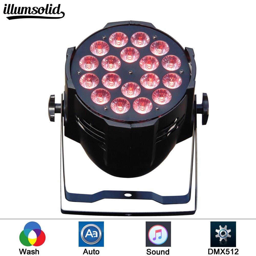 Par led 18x12w dj огни RGBW wash dmx512 Диско профессиональное сценическое dj оборудование