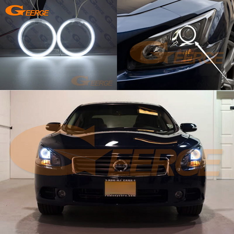 For Nissan Maxima 2009 2010 2011 2012 2013 2014 Excellent angel eyes Ultra bright illumination ccfl Angel Eyes Halo Ring kit for mazda 3 mazda3 bl sp25 mps 2009 2010 2011 2012 2013 excellent ultra bright illumination ccfl angel eyes kit