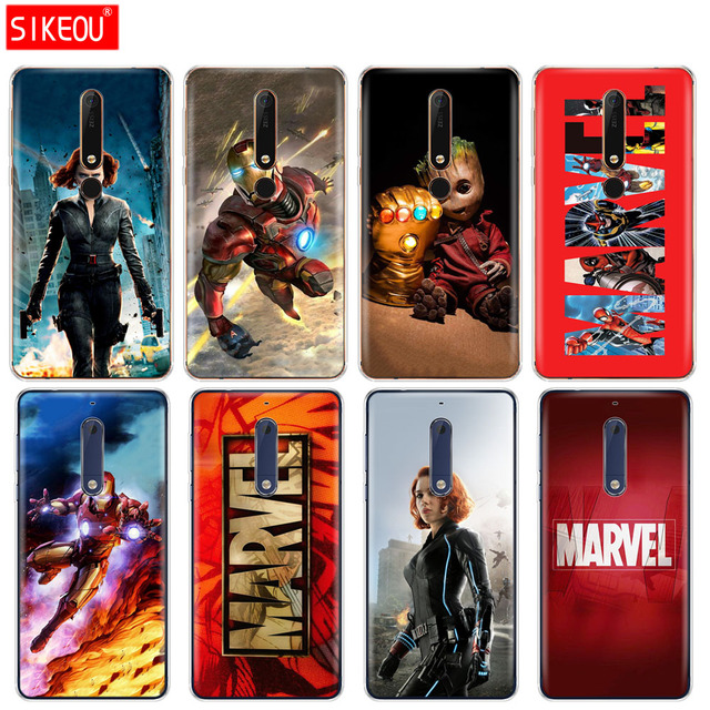 check out c9d28 7acf8 US $1.35 45% OFF|silicone cover phone case for Nokia 5 3 6 7 PLUS 8 9  /Nokia 6.1 5.1 3.1 2.1 6 2018 Marvel superheroes-in Fitted Cases from  Cellphones ...