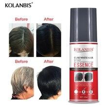 3 stücke Haar Öl Permanent Schwarz Haar Serum Organischen Kräuter Medizin Essenz Spray Für Weiß Haar Behandlung Weiß Entfernung Anti grau